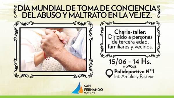 San Fernando invita a charla sobre Toma de Conciencia del Maltrato en la Vejez