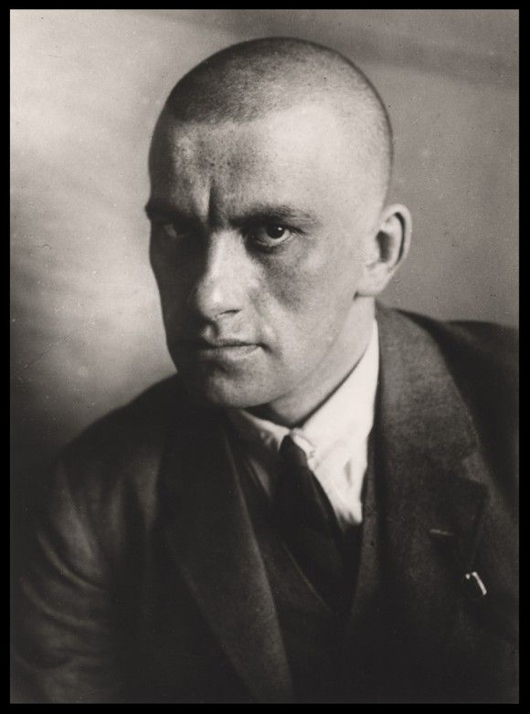 Vladimir Mayakovsky (1893-1930) - Russian and Soviet poet, playwright, artist and stage and film actor. Photo by Alexander Rodchenko