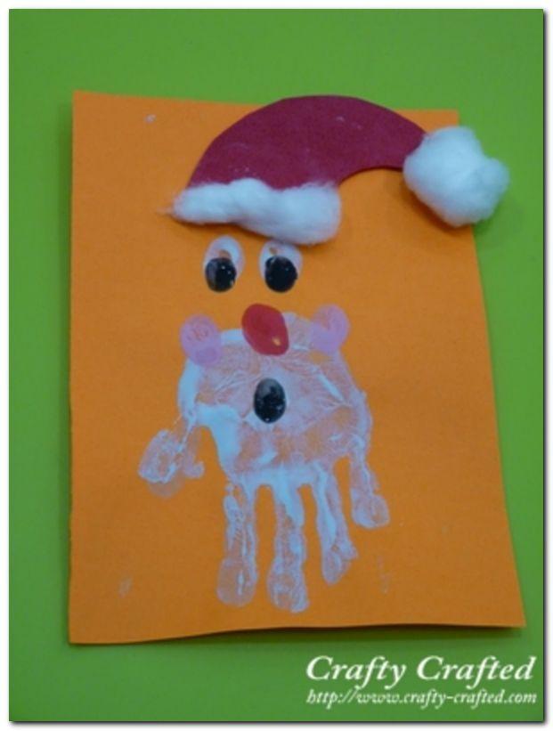 Handprint santa- fun indoor activity with the kids!!