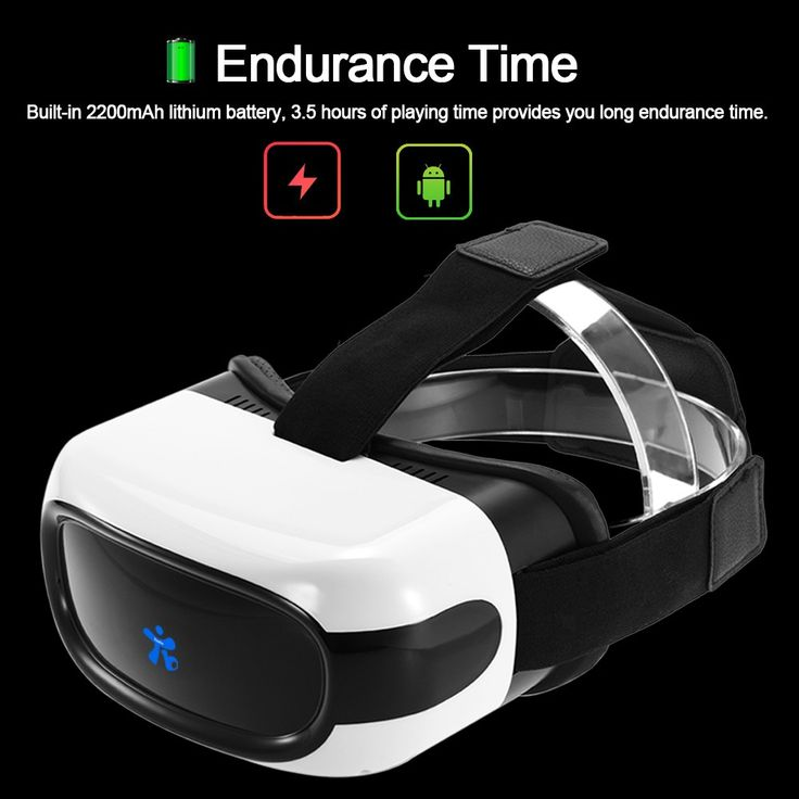 Portable VR All-in-one Machine Virtual Reality Glasses 3D Headset 2D / 3D Movie Immersive Games Android 5.1 1G/8G 2.4G WiFi Bluetooth USB port TF Card Slot Sales Online - Tomtop