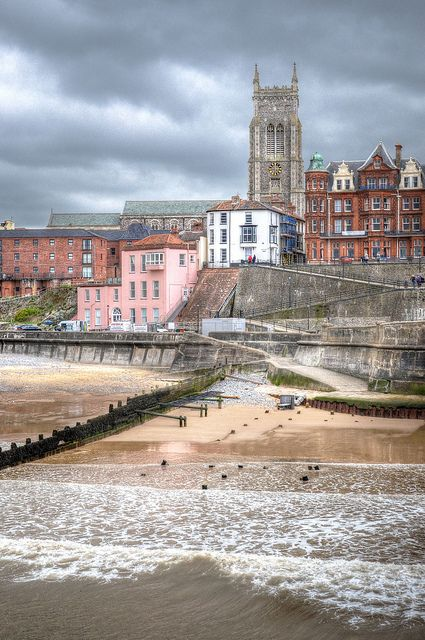 Cromer seafront, Norfolk , UK by Baz Richardson. The 14th century church of Saint Peter and Saint Paul. The church has a tower of over 160ft and is the highest in Norfolk and serves as a landmark for shipping