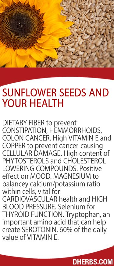 Sunflower Seeds and your health.