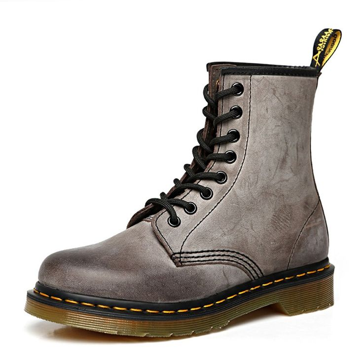 Saprex 2015 Newest Winter Shoes Geniune Leather Marten Boots 8 Eye Lace Up Boot => See this great image  : Work boots
