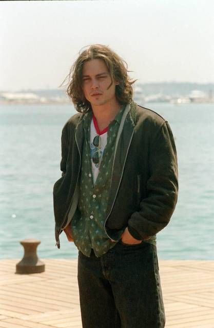 Johnny at the photocall for the movie Arizona Dream at the Cannes Film Festival on May 8th, 1992. age 29