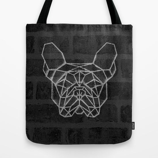 French Bulldog Tote Bag. #geometric #french #bulldog