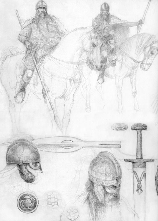 All That Is Gold  Rohan concept sketches  Alan Lee