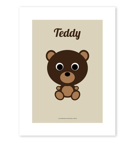 Teddy poster, 249 kr (SEK), buy it here: http://adorna.se/products/1939