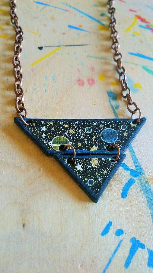 Rokalo / Kúsok z vesmíru- náhrdelník