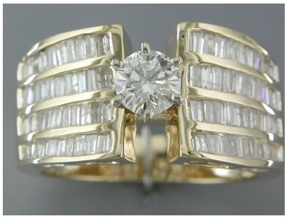 '1.37Ct Genuine Diamond 14K Gold Engagement Ring SZ 7' is going up for auction at  9am Mon, Sep 17 with a starting bid of $2000.: Engagement Rings Style, Gold Engagement Rings, Diamond Rings, 14K Gold, Gold Diamonds, Diamonds Rings, Certified Diamonds, Color Vs2 Si1, Diamonds Engagement Rings