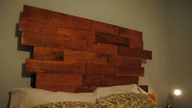 beds from pallets with their hands