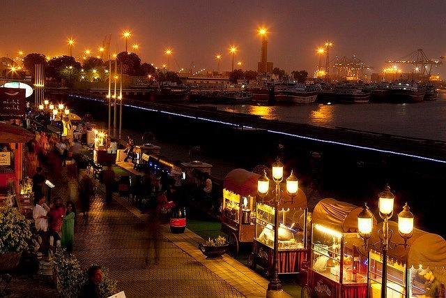 Port Grand by Night, Karachi, Pakistan.
