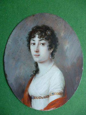TOP Miniatur um 1800: Junge, schöne Frau signiert u. datiert