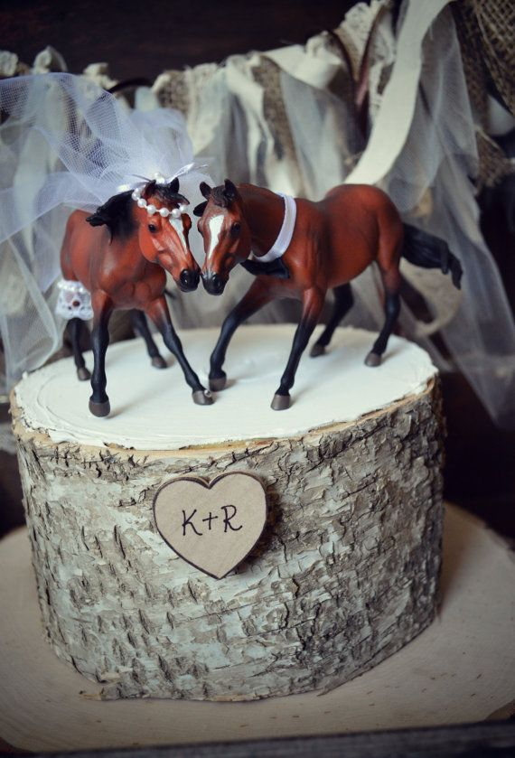 Horse Lover Wedding Cake Topper Thoroughbred Race Horse