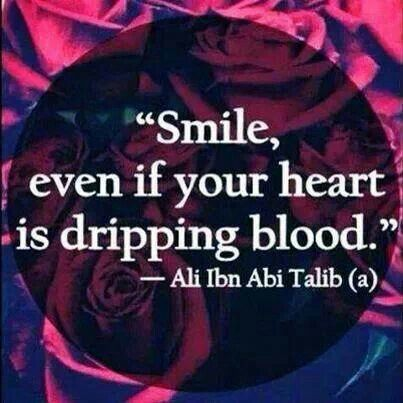 "(Especially when your heart's dripping blood..."")"