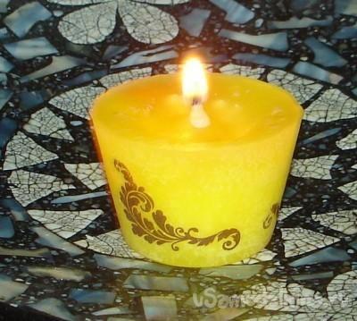 Лимонная свеча своими руками
