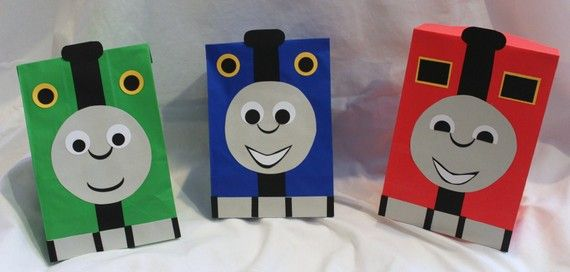 Thomas the train party favor bags