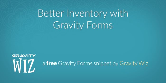 Gravity Forms does not support the concept of inventory out of the box. This snippet provides an easy method for setting up simple, one-off inventory limits on a per field basis.