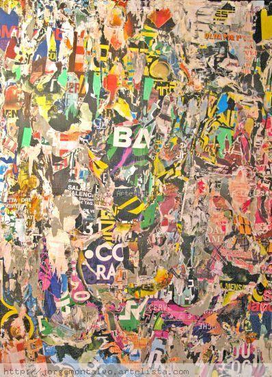 #DECOLLAGE Decollage, es la transformación de los materiales que consumimos produciendo un arte en si,