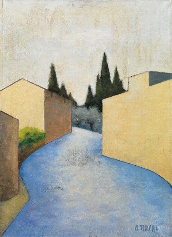 Ottone Rosai - Strada sui colli fiorentini, c. 1956.