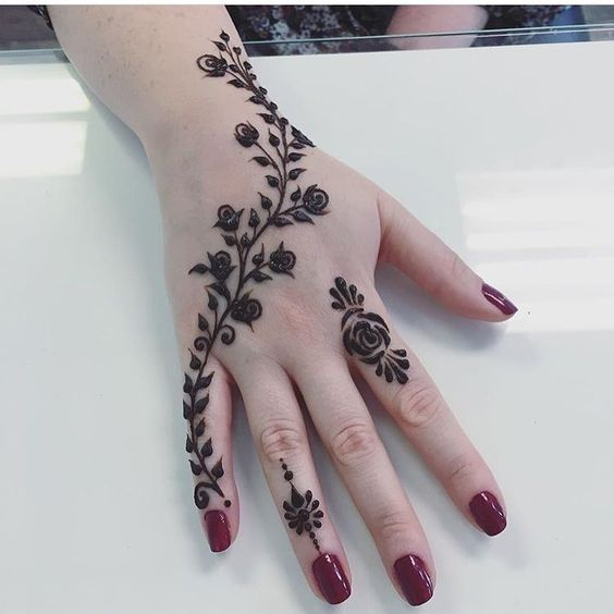 Beautiful Simple Hand Henna Designs