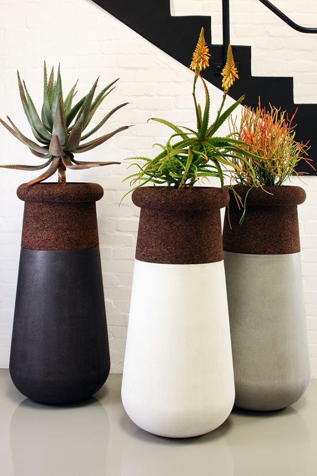 Indigenus Slimline Soma planters for smaller spaces. Suitable for indoor or outdoor use. Designed by award winning South African designer, Laurie Wiid van Heerden of Wiid Design. International launch at 100% Design London in September 2015.