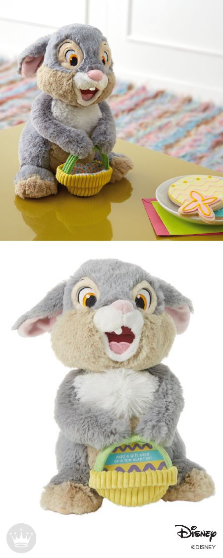 297 best easter images on pinterest easter baskets easter ideas this disney stuffed animal from hallmark is adorable from head to feet hes a bunny you will love to meet hes carrying an empty basket negle Choice Image