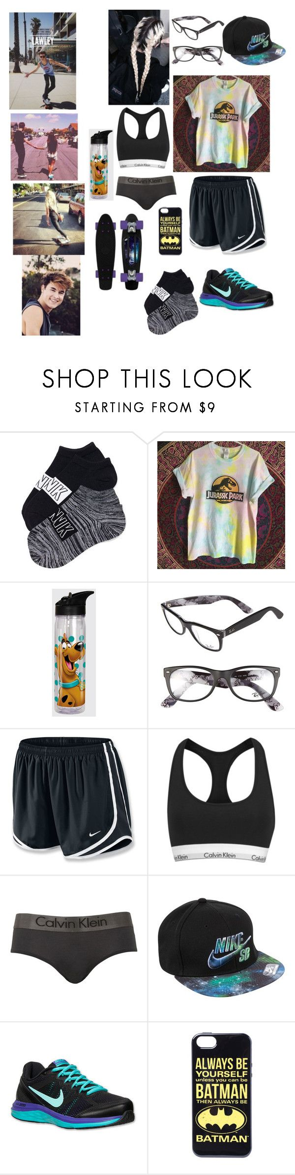 """""""Penny/skate boarding with kian #15"""" by julianiall1 ❤ liked on Polyvore featuring Ray-Ban, NIKE, Calvin Klein, women's clothing, women, female, woman, misses and juniors"""