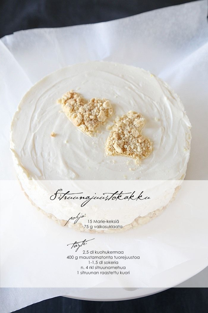 cheese cake / sitruunajuustokakku