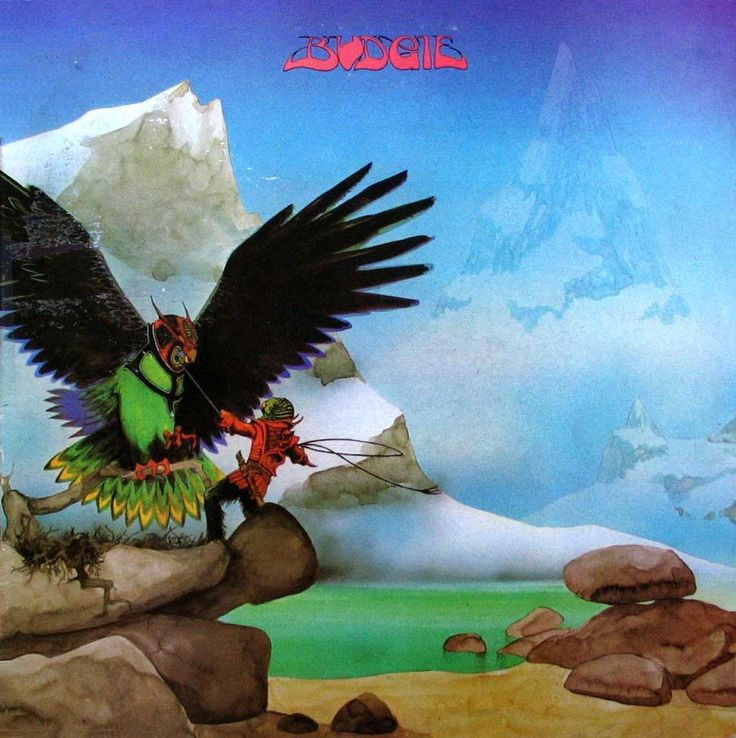 """Budgie """"Never Turn Your Back on a Friend"""" MCA Records MDKS 8010 #RogerDean #Budgie"""