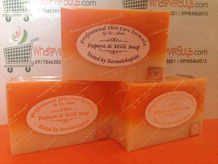 Papaya & Milk Soap (Professional Skin Care Formula by Dr. Alvin) available on WhateverBuys.com - FREE SHIPPING NATIONWIDE