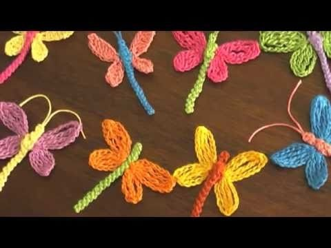 Dragonflys! In Spanish, but the video is easy to follow. Would be cute on a little girl's sweater.