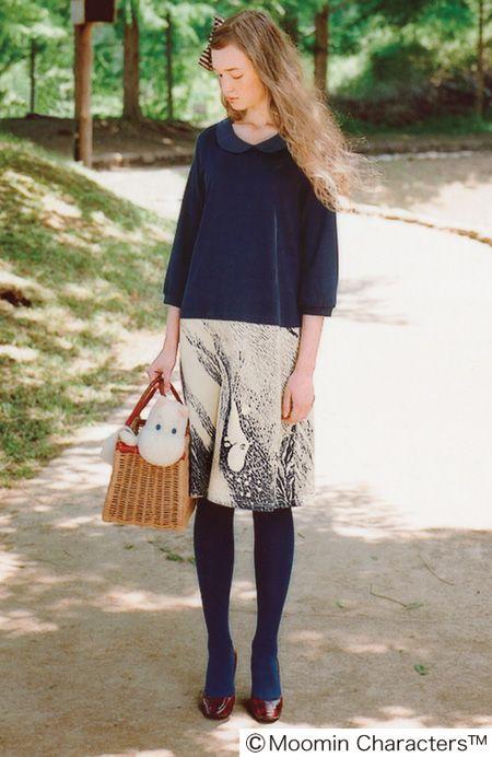 Felissimo Syrup clothing - Moomin skirt