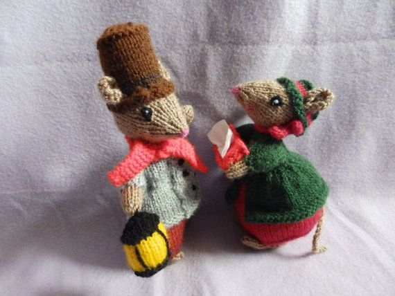 Christmas knits Knitted Dickensian Mice by ChristmouseKnits   Christmas knitting, Knitting ...