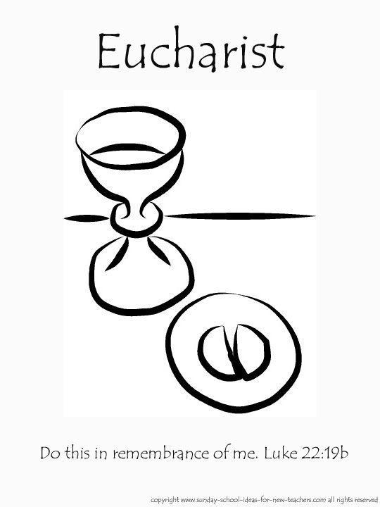 Sacrament of Holy Communion - The Eucharist Coloring Page -  TheCatholicKid.com | 720x540