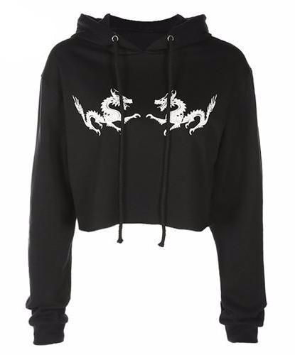 Latest Obsession:  Double Dragon Cro... Shop Now! http://www.shopelettra.com/products/double-dragon-cropped-pullover-sweatshirt-with-hood?utm_campaign=social_autopilot&utm_source=pin&utm_medium=pin