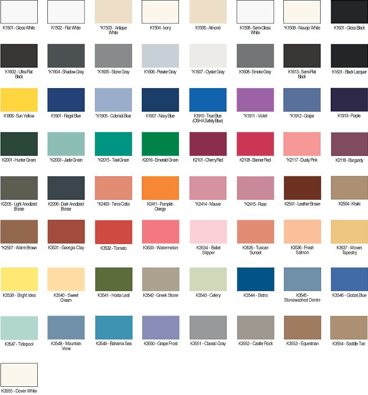 Interior Paint Colors Home Depot: Kwal Color Paint Chart