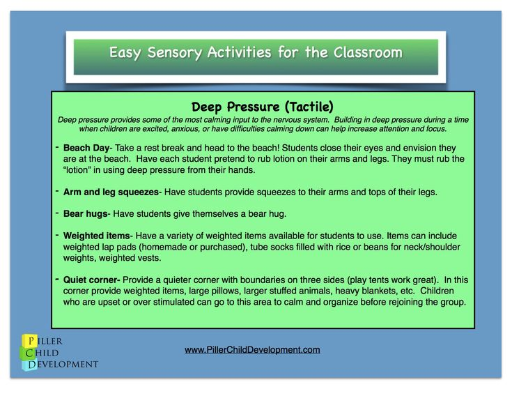 Classroom Ideas For Sensory Integration ~ Best images about sensory handouts on pinterest