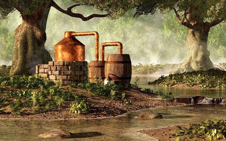 moonshine stills plans | Moonshine Still 1 Digital Art by Daniel Eskridge - Moonshine Still 1 ...