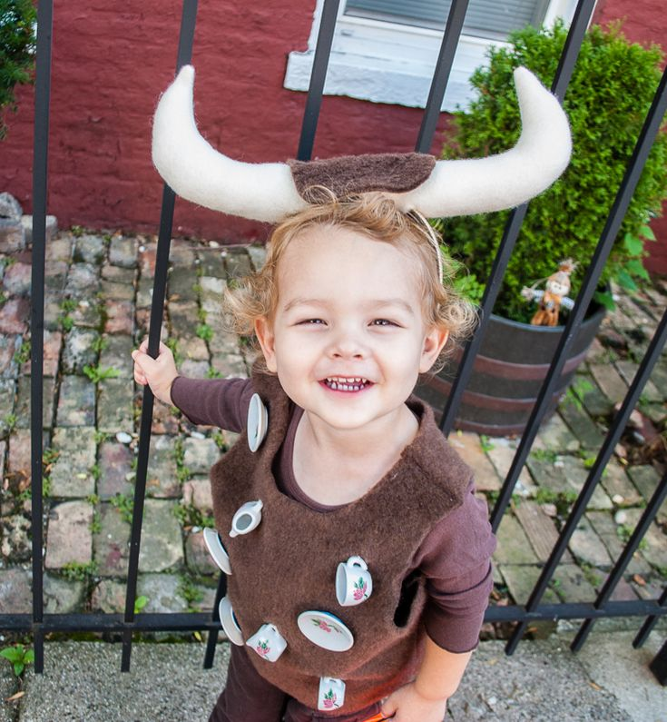 Easy DIY Halloween Costume for Toddlers and Kids: Bull In A China Shop