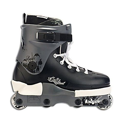 Razors Cult Street White Aggressive Skates 2012 by Razor. $129.00. The Razors Cult Street White Aggressive Skates is the latest model of Razor's most popular aggressive skate design. Based on successful pro models such as the Shima 2 and 3 the Street features a replaceable Razors Classic Cult Soul Frame, a new re-designed Razors liner with articulated ankle shape and excellent heel support. Also features fiberglass reinforced Razors 42mm anti-rockers with aluminum s...