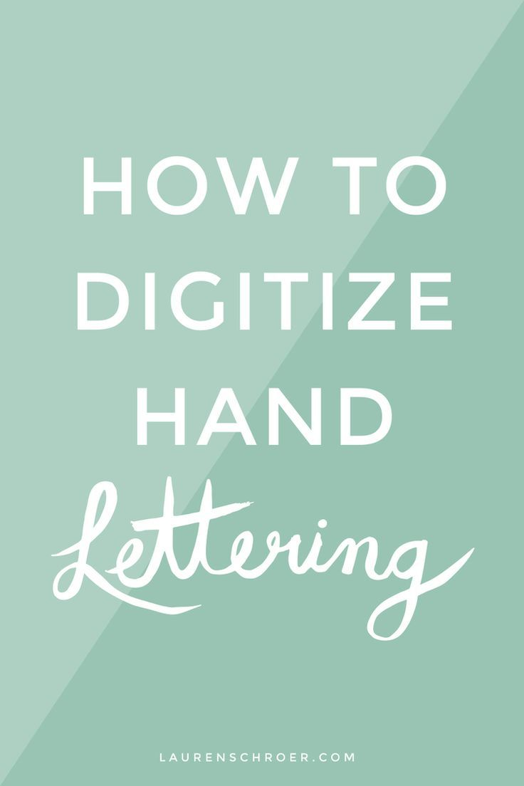 Poster design lesson plan - How To Digitize Hand Lettering