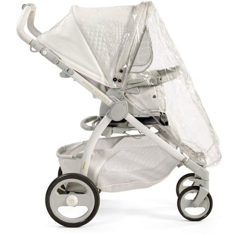 Young Versace Baby White Stroller U0026 Travel Set (4 Piece)