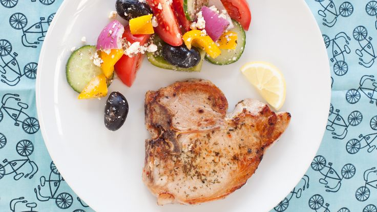 Greek Roasted Pork Chops