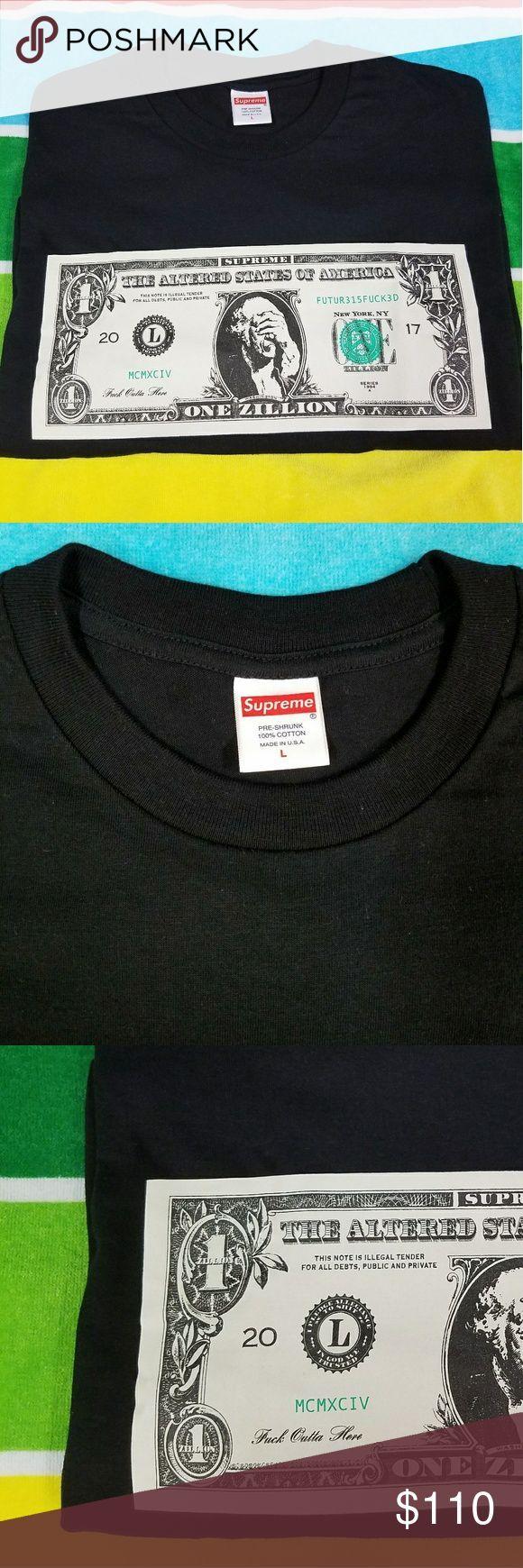 Black Supreme Dollar Bill t-shirt (large) New Supr…
