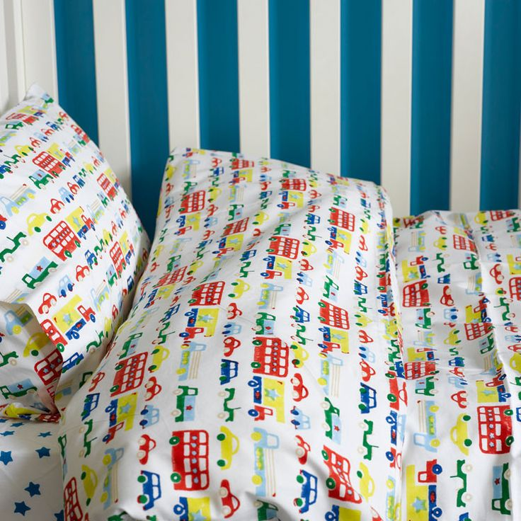 Car & buses toddler cot bed duvet set | Lulu and Nat