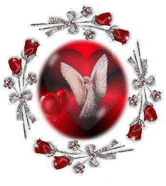 rose glitter graphics   Glitter Graphics » Fantasy » Angel Red Rose