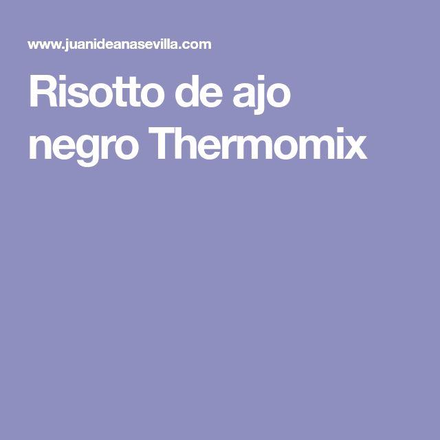 Risotto de ajo negro Thermomix