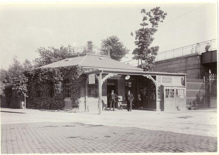 Ved indkørslen til Frihavnen fra syd lå toldvagt 2. Ca. 1900