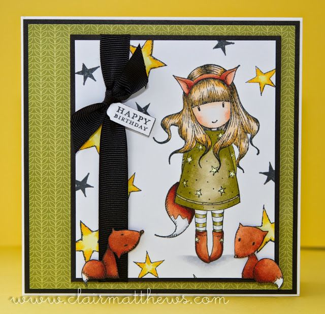 Rubber Stamp Card Making Ideas Part - 42: Gorjuss Girl U0027the Foxu0027 Rubber Stamp. Card Coloured With Copics. Www.