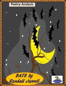 Bats by Randall Jarrell Poetry Analysis by HappyEdugator   Teachers Pay Teachers
